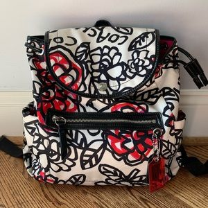 COACH Poppy Daisy Floral Graffiti Backpack